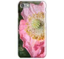 Crumpled poppy iPhone Case/Skin