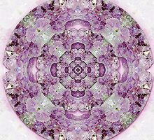 Amethyst Wheel Mandala by haymelter