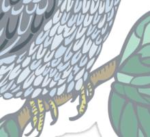 Vintage colored bird Sticker