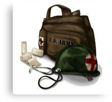Army Medic Canvas Print