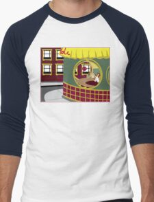 At the Pie Hole Men's Baseball ¾ T-Shirt