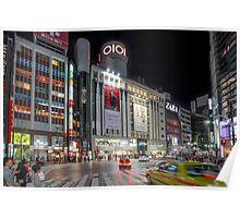 Bright Night Shibuya Intersection Poster