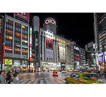 Bright Night Shibuya Intersection Photographic Print