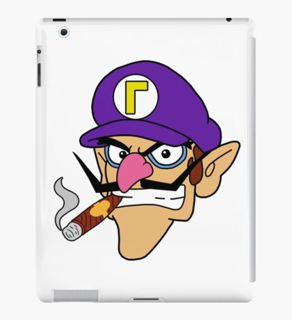 Waluigi Smoking a Cigar iPad Case/Skin