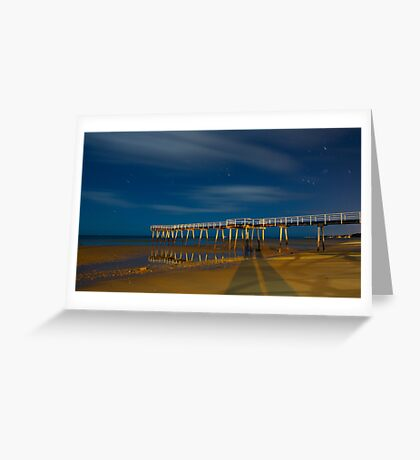 Moonlight at Scarness.... Greeting Card