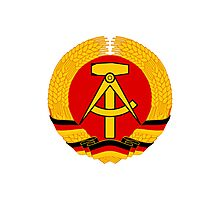 German Democratic Republic Emblem Photographic Print