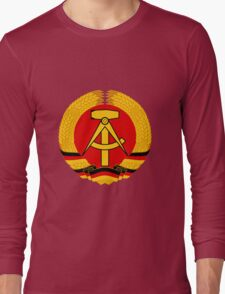 German Democratic Republic Emblem Long Sleeve T-Shirt