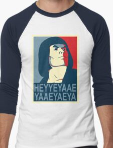 He-Man Heyyeyaaeyaaaeyaeyaa In Obama Hope Style Men's Baseball ¾ T-Shirt