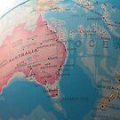 Australia's place on the globe by Matt Simner