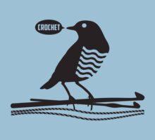 Talking bird crochet hooks yarn Baby Tee