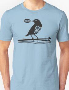 Talking bird crochet hooks yarn Unisex T-Shirt