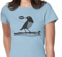 Talking bird crochet hooks yarn Womens Fitted T-Shirt