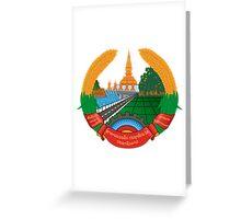 Laos National Emblem Greeting Card