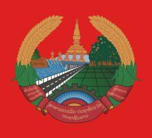 Laos National Emblem Kids Tee