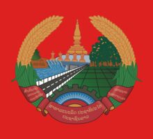 Laos National Emblem One Piece - Short Sleeve