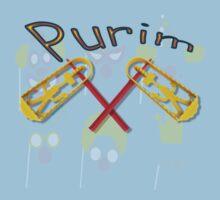 Happy joyous Purim  One Piece - Short Sleeve