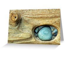 Trapped Pebble Greeting Card