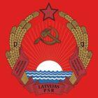 Socialist Latvia Emblem by charlieshim