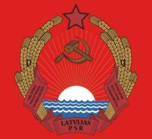 Socialist Latvia Emblem Kids Clothes