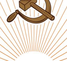 Socialist Latvia Emblem Sticker