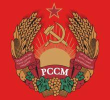 Socialist Moldova Emblem Kids Tee