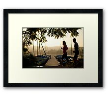 Morning joggers Framed Print