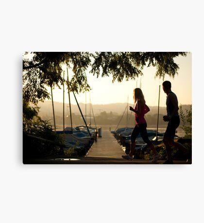 Morning joggers Canvas Print
