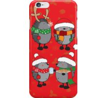Christmas hedgehogs iPhone Case/Skin