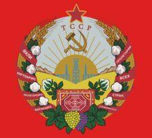 Socialist Turkmenistan Emblem Baby Tee