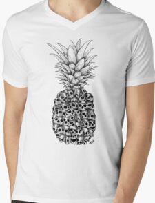 Pineapple tropical death Mens V-Neck T-Shirt