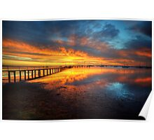 Corio Bay Sunrise HDR Poster