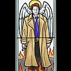 Castiel Stained Glass by Grace Mutton