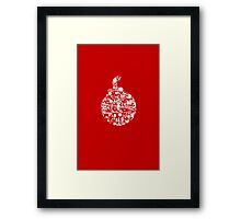 Things that go BOOM - white Framed Print