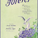 FOREVER  (vintage illustration) by ART INSPIRED BY MUSIC
