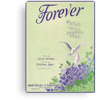 FOREVER  (vintage illustration) Canvas Print
