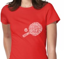 QR Ping Pong Womens Fitted T-Shirt