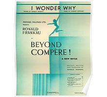 I WONDER WHY (vintage illustration) Poster