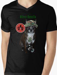 Oliver Bovello, Canine Community Reporter-Travel Mens V-Neck T-Shirt