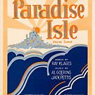 PARADISE ISLE (vintage illustration) by ART INSPIRED BY MUSIC