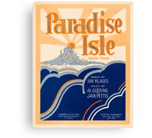 PARADISE ISLE (vintage illustration) Canvas Print