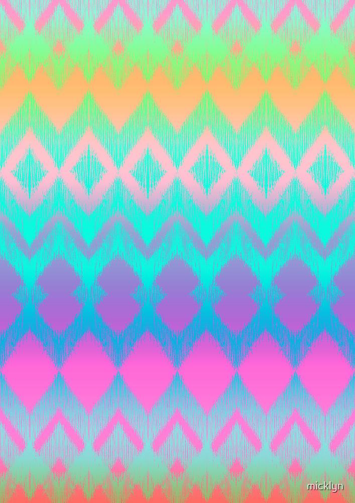 Rainbow Ikat Pattern by micklyn