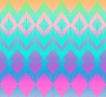 Rainbow Ikat Pattern by micklyn