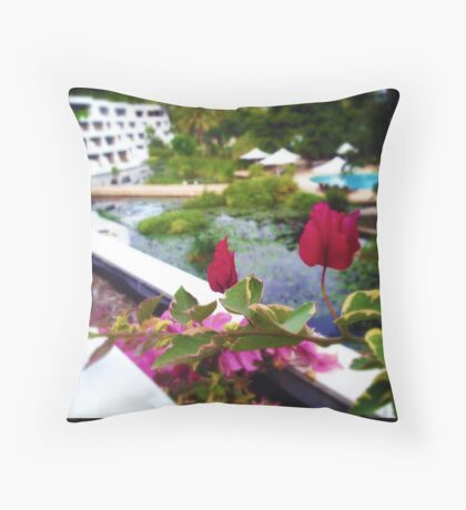 Bougainvillea Patch Throw Pillow