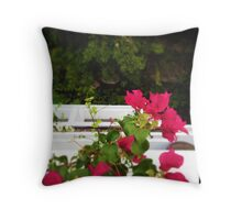 Bougain-Balcony Throw Pillow