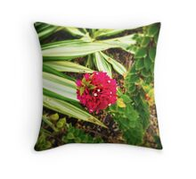 Bougain-Stalk Throw Pillow