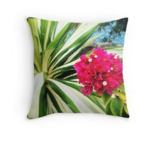 Bougain-Stalk II Throw Pillow
