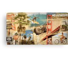 California Collage Art Canvas Print