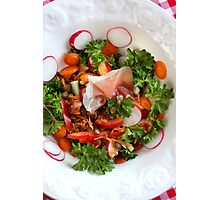 Lentil  Salad With Country Bacon II Photographic Print
