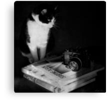 Sophie & the Nikkormat Canvas Print