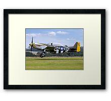 "TF-51D 44-84847 N251RJ ""Miss Velma"" Framed Print"